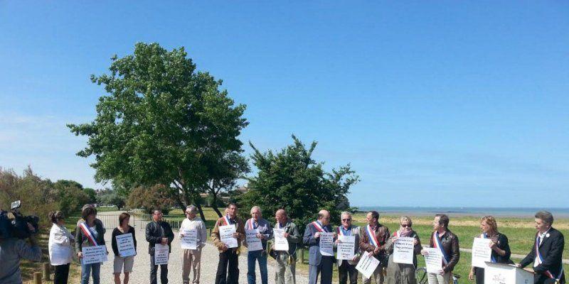 Une vingtaine d'élus étaient présents ce mardi matin à Talmont-sur-Gironde