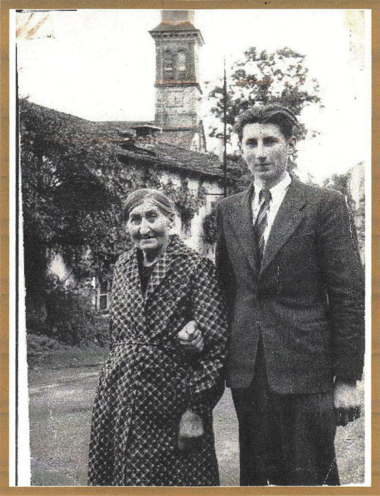 Marie Golbain et son petit fils Serge Berchier