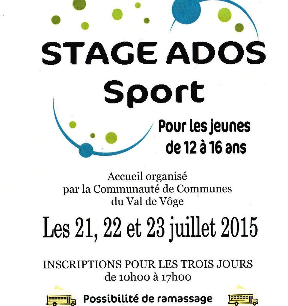 Stage Ados sport