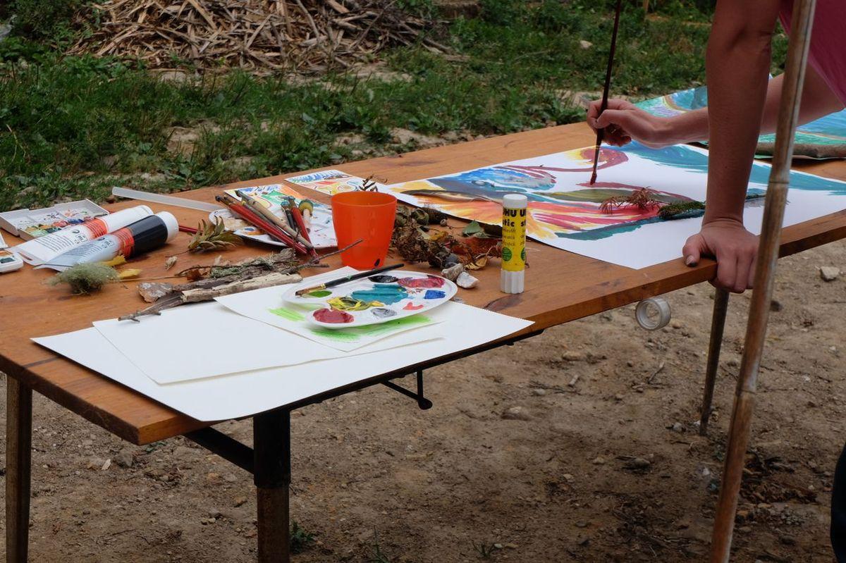 """Stage """"Nature et Art-thérapie"""" du 1er août : bilan"""