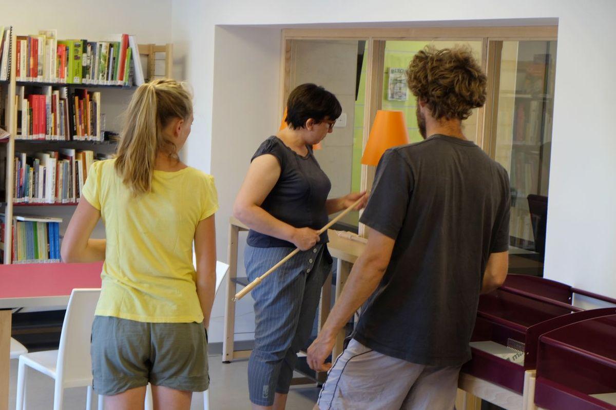 Visite guidée avec Claire Bulet et les nouveaux bénévoles, Fanny et Gilles.