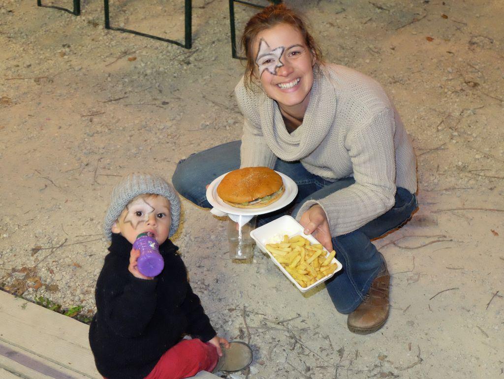 Maxi sourire et terra hamburger.