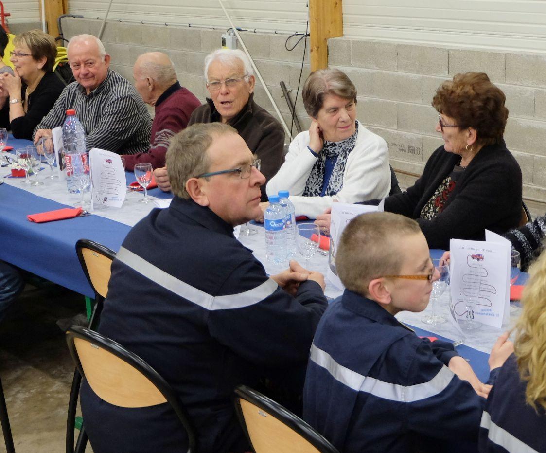 Les sapeurs-pompiers du centre de Bains les Bains fêtent la Sainte Barbe