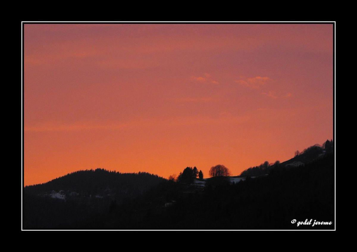 Coucher de soleil à La Bresse