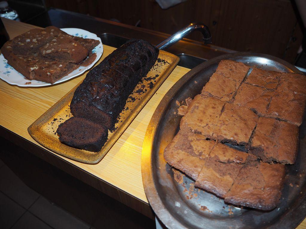 Les gâteaux étaient tentants