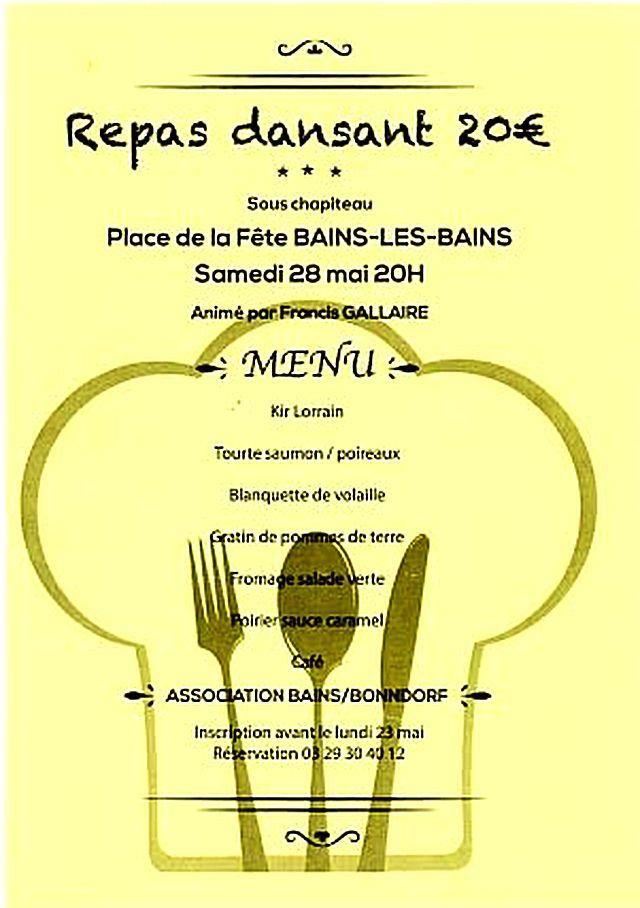 Invitation soirée du Comice Agricole de Bains les Bains