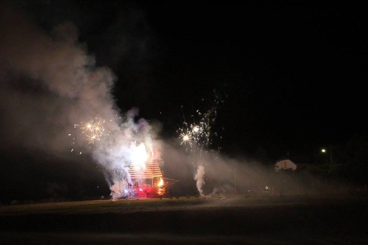 Chavande et feux d'artifices à Bains les Bains