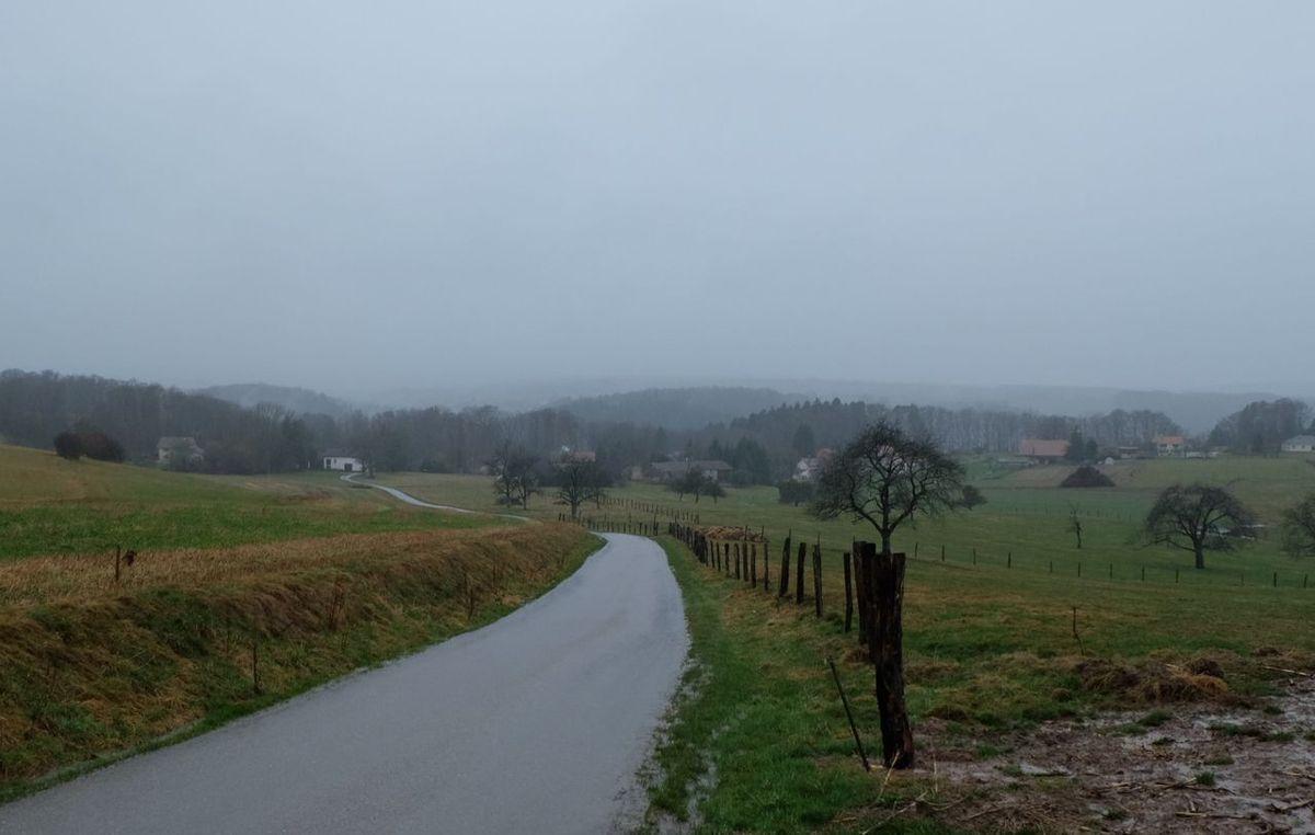 La Grande Fosse sous la pluie