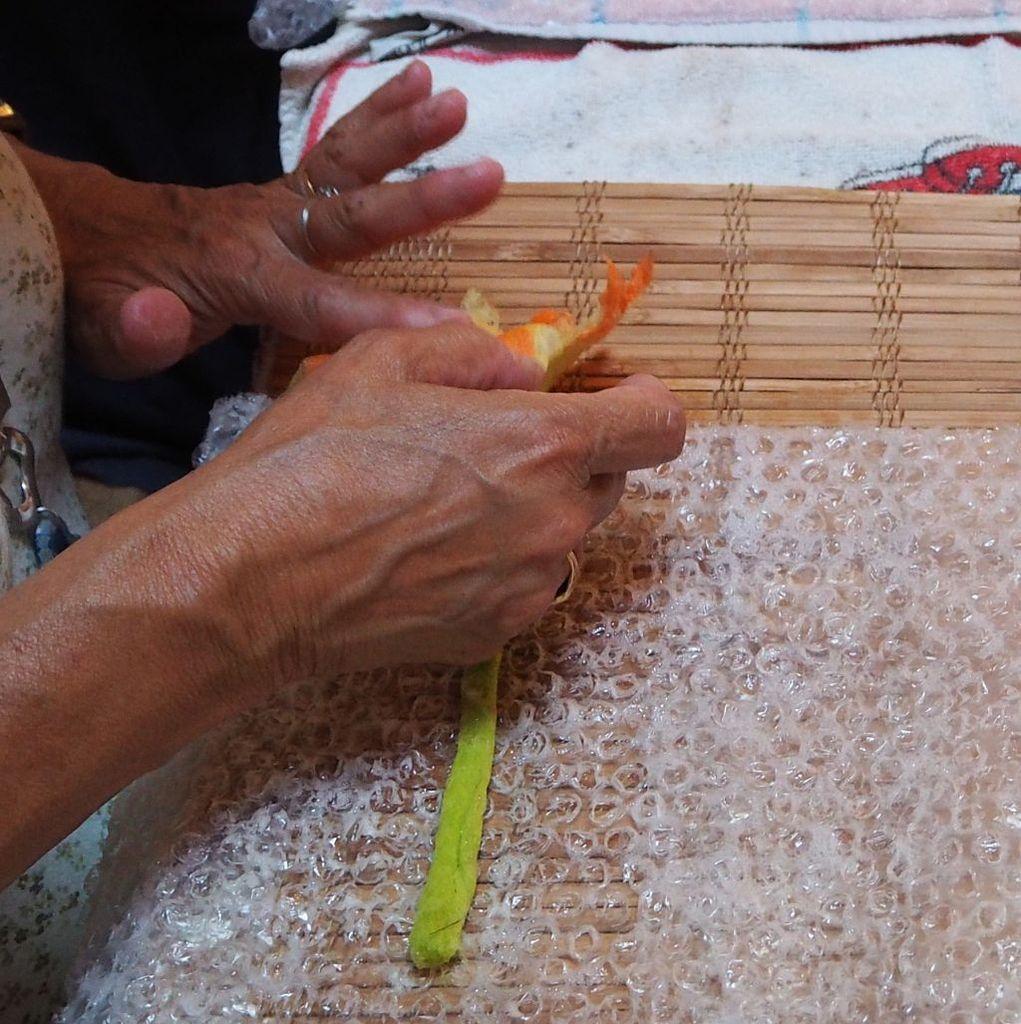 Atelier laine feutrée sous Coeur de Yourte avec Sylvia von Kaenel