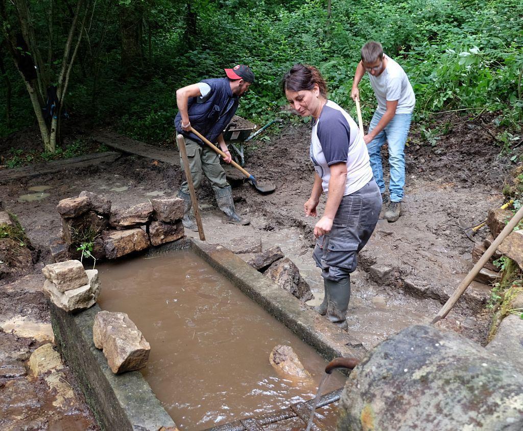 Rénovation de la fontaine à la Grande Fosse