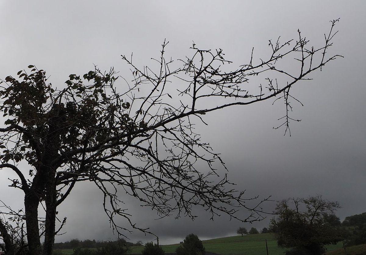 Une averse s'éloigne, une autre arrive. La Basse des Orges.