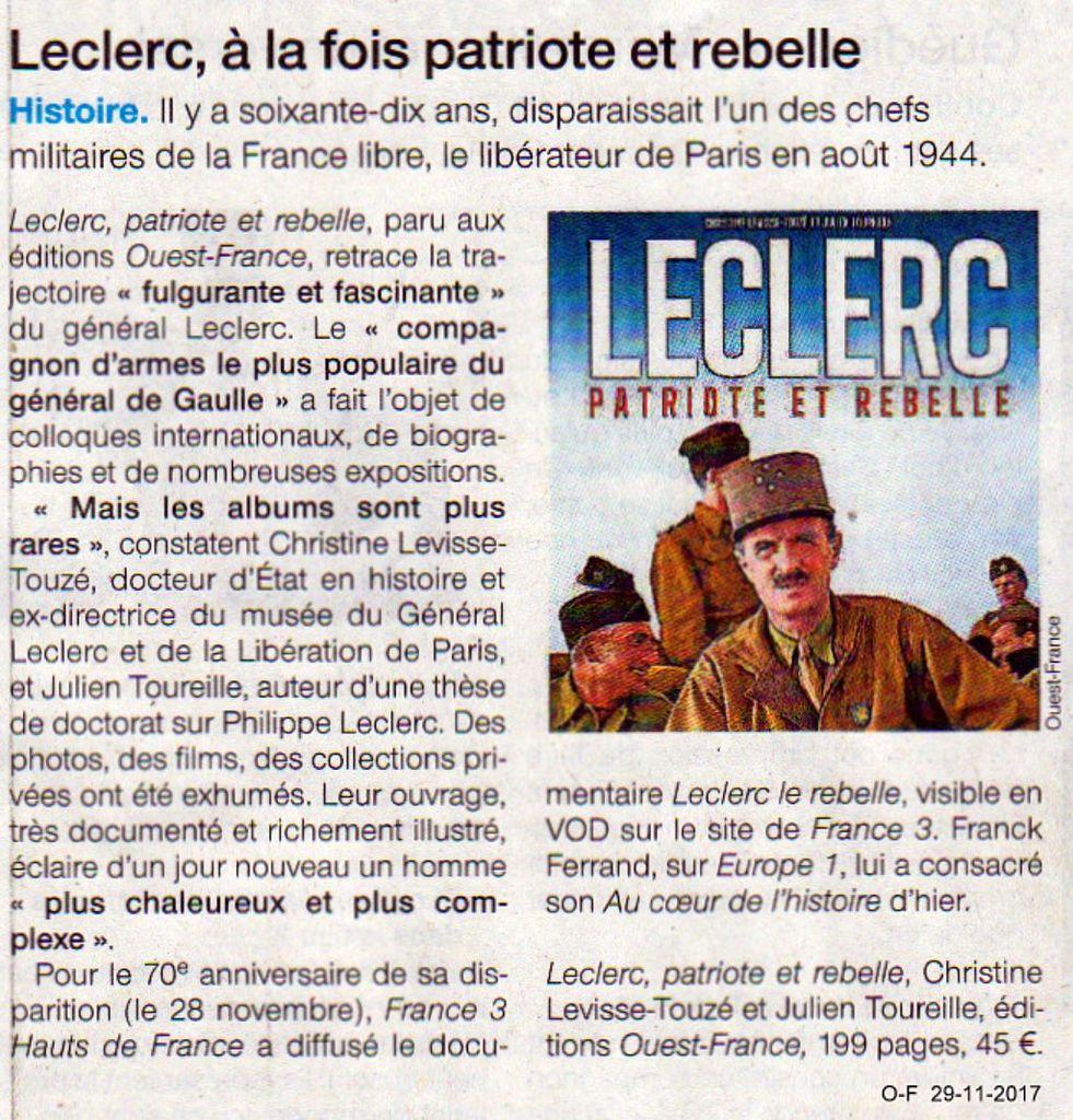70 ème anniversaire de la mort du Général Leclerc