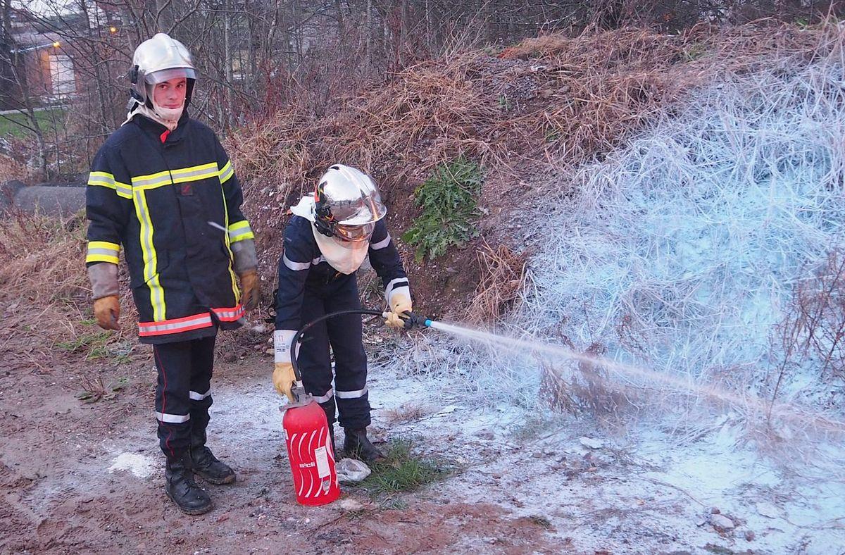 Formation extincteurs des Jeunes Sapeurs Pompiers