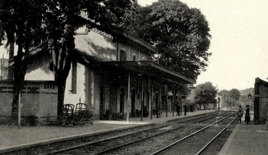 La gare de Bains les Bains autrefois
