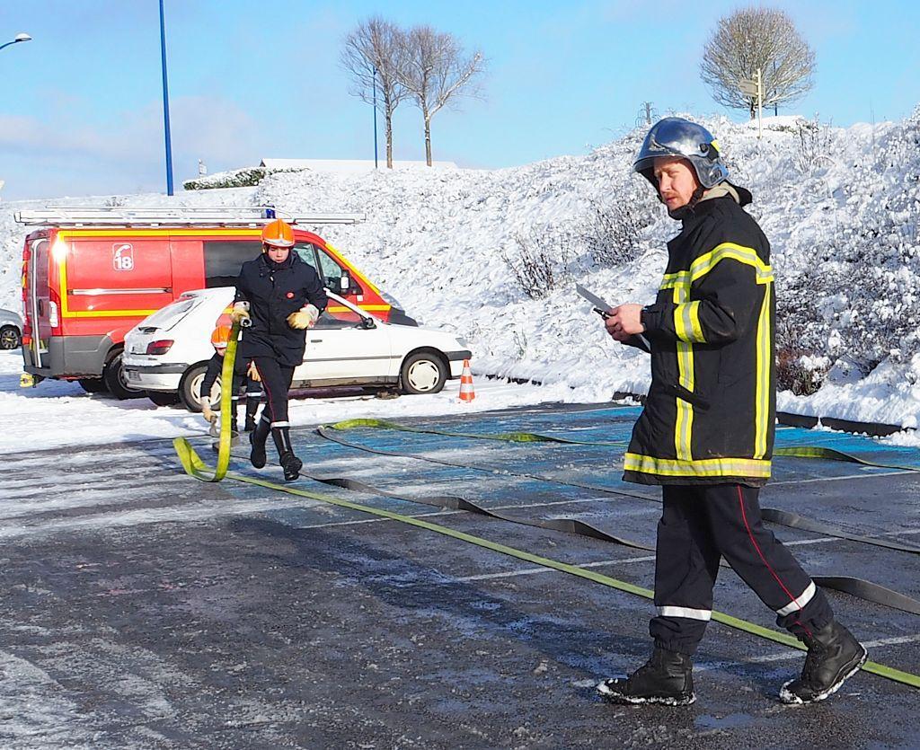 Les Jeunes Sapeurs Pompiers participent au Téléthon