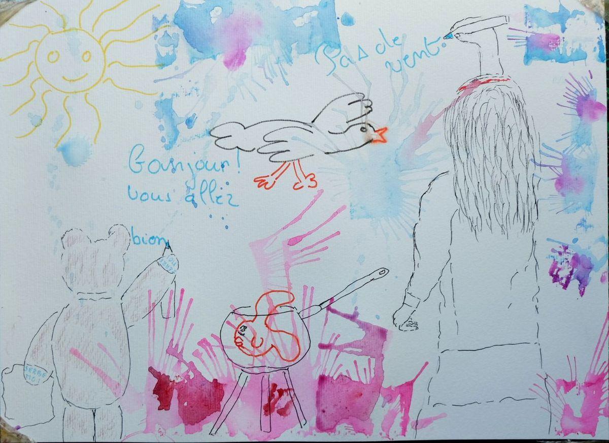Quand l'ours aidait les CP de l'école Chantereine à écrire la Météo de jour