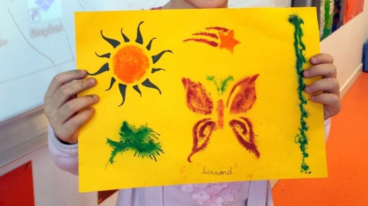 Avec les CP de l'école Chantereine il y a toujours du soleil