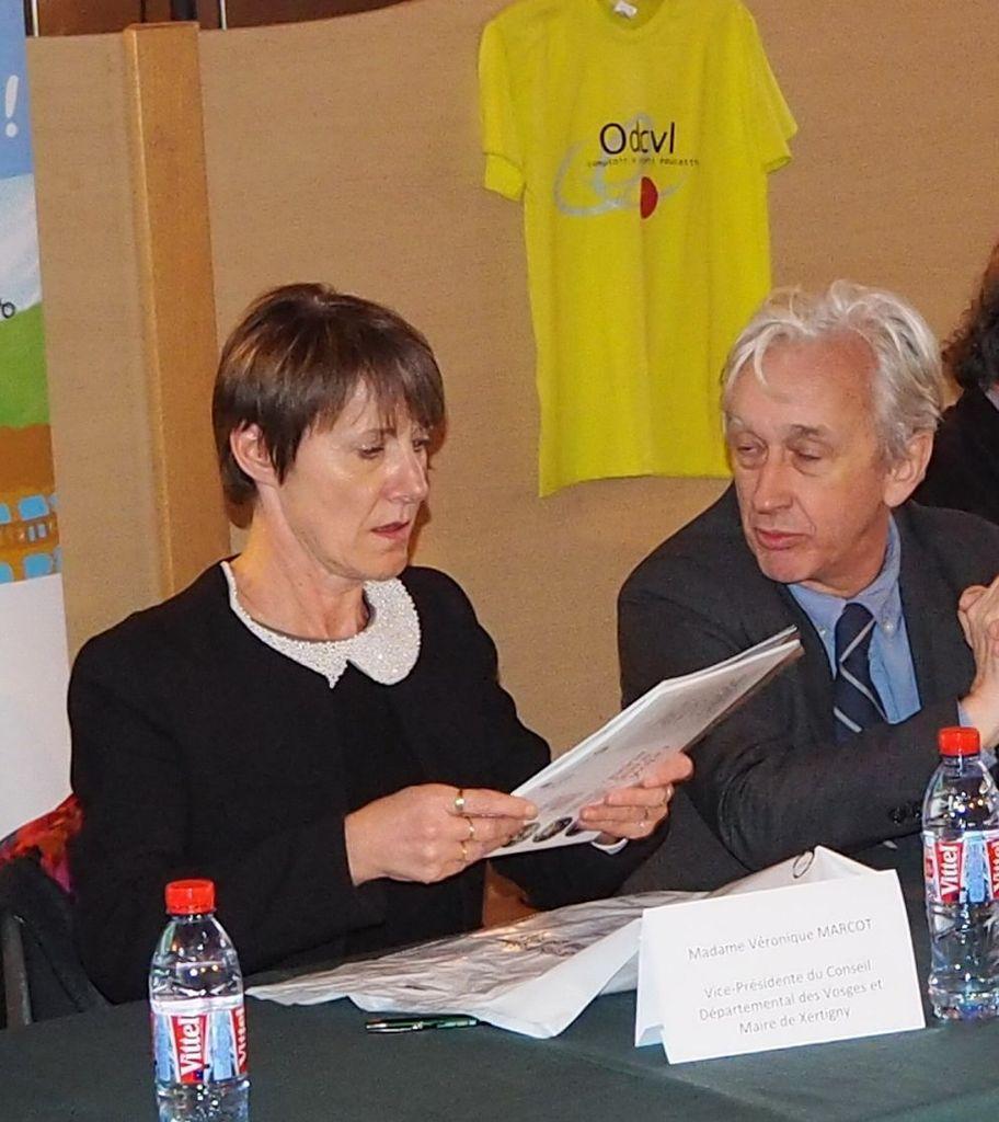 Véronique Marcot, conseillère départementale, Benoît Jourdain - Vice-Président du Conseil Départemental des Vosges
