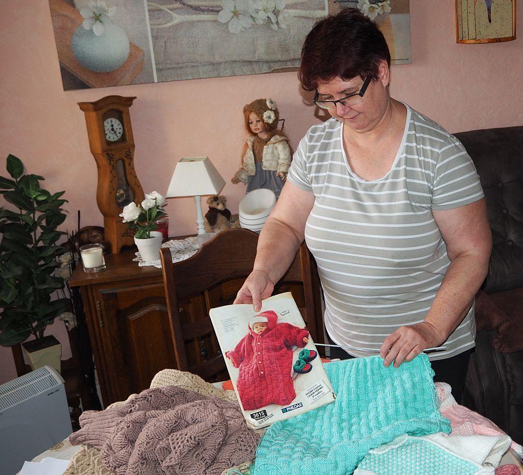 Francine Etienne prépare le Marché de Noël