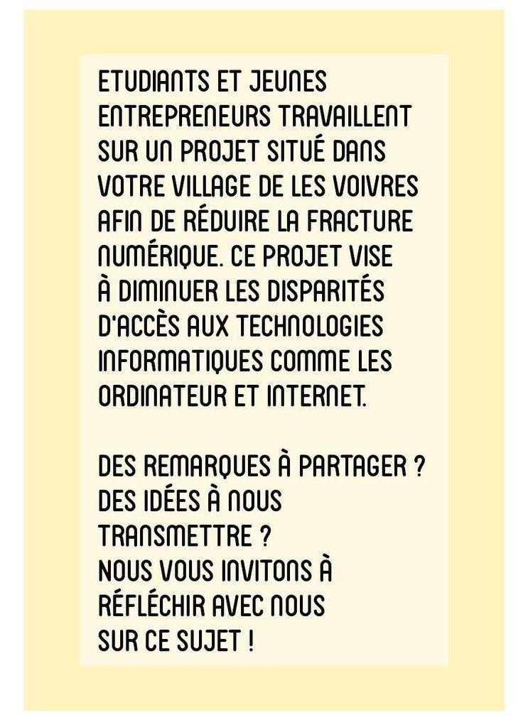 """Invitation à l'atelier participatif """" La Fracture Numérique"""""""