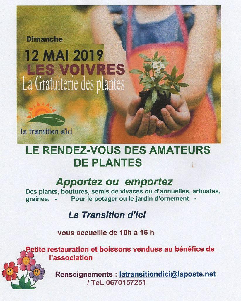 La Gratuiterie des Plantes-Dimanche 12 mai-LES VOIVRES