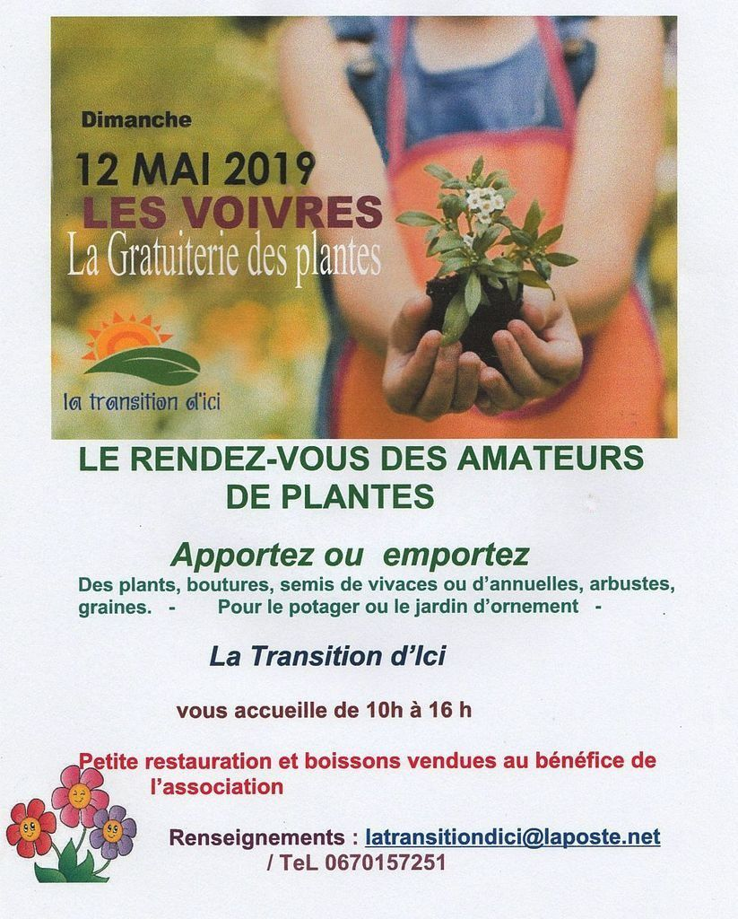 Gratuiterie aux plantes - La Transition d'Ici