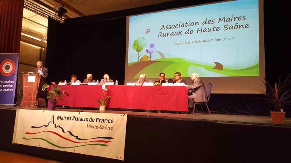 Michel Fournier à l'Assemblée Générale des Maires de la Haute-Saône