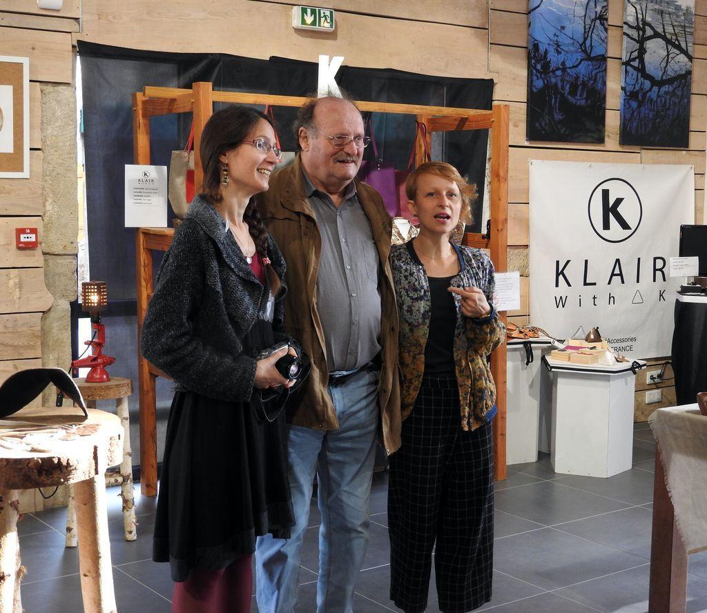 Claire Munier, à gauche, Michel Fournier, Lucie Bouchard.