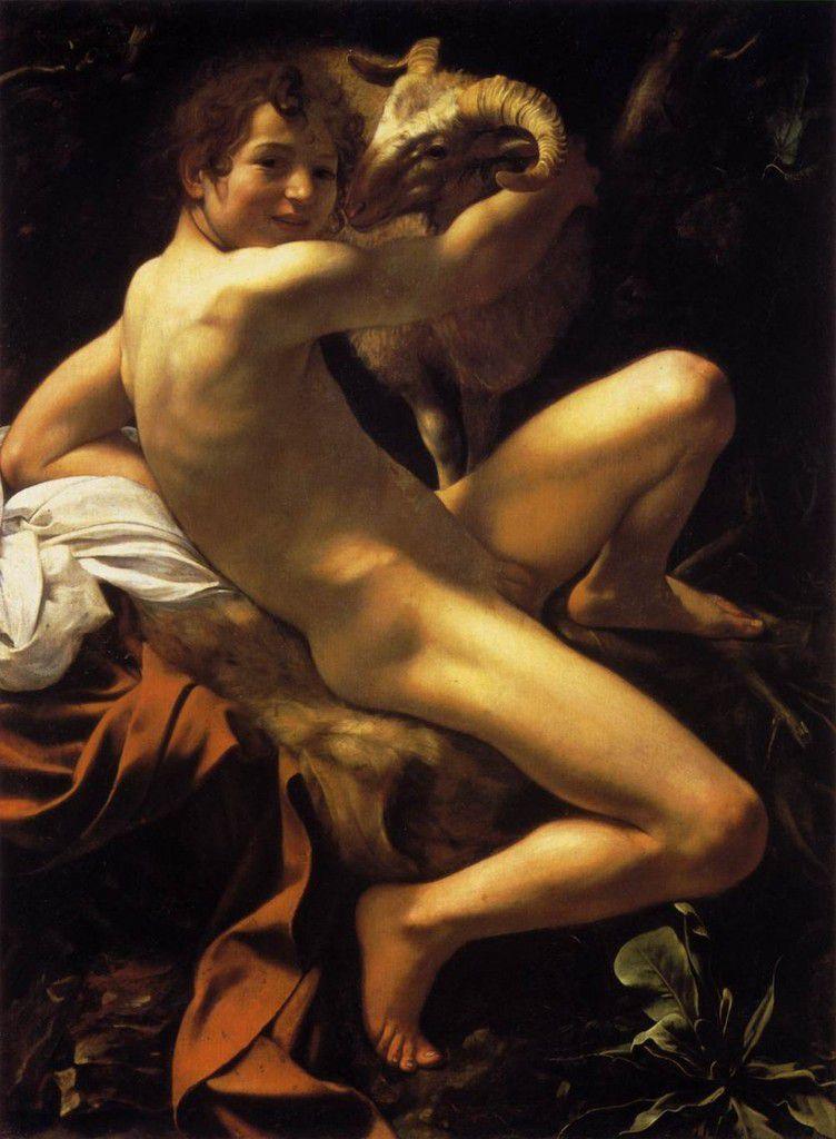 Michelangelo Merisi da Caravaggio, Le jeune Saint Jean-Baptiste au bélier, 1602,  Rome, Musei Capitolini