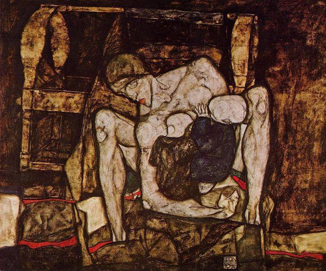 "E. Schiele, ""Mère aveugle"", 1914"