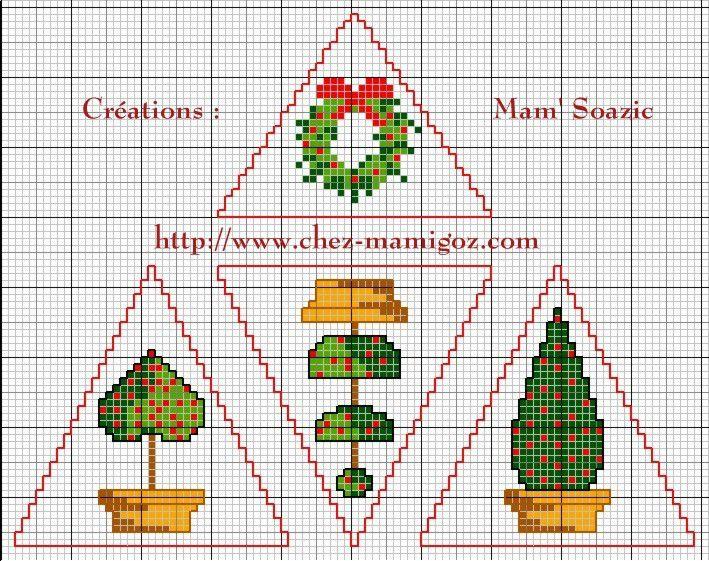 Déco Triangle pour Sapin de Noël: Topiaire de Houx