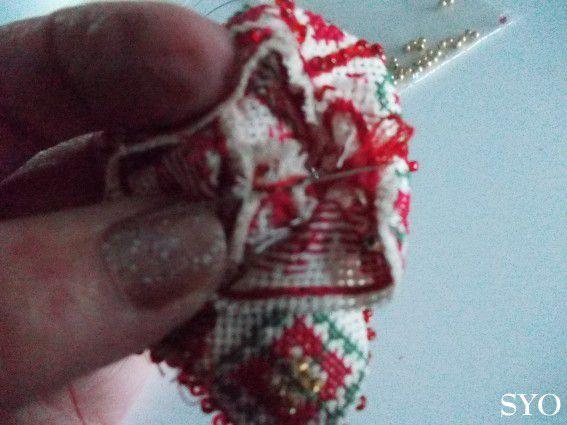 Clochette-Campanule brodée, déco Sapin: Tutoriel montage