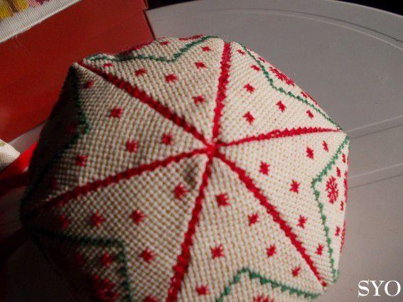 Grosse Boule de Neige brodée, déco Noël, Tutoriel montage