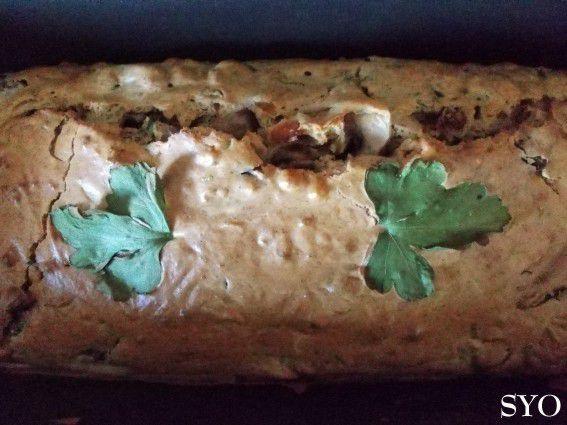 Cake au blé noir , moules, champignons et Colombo