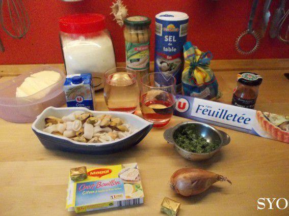 Tarte Festive aux Fruits de Mer et Asperges au Massalé