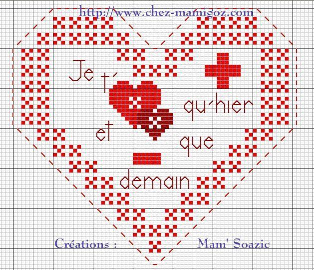 Troisième Cœur à broder +qu'hier -que demain, 2017 : 1 ère partie.