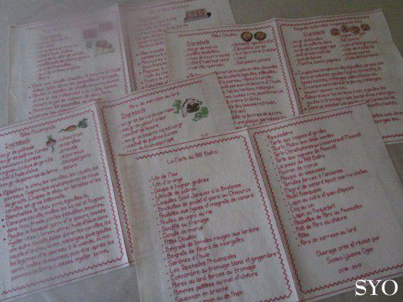 Montage Livre Recettes brodé pour l'Expo d'Isigny