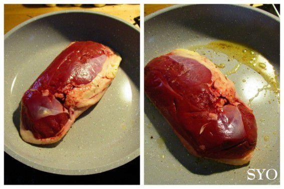 Magret de canard aux Champignons, Herbe à Curry-Thym Citron
