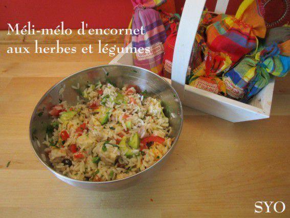 Méli-mélo d'encornet aux herbes et légumes du Petit Bistro