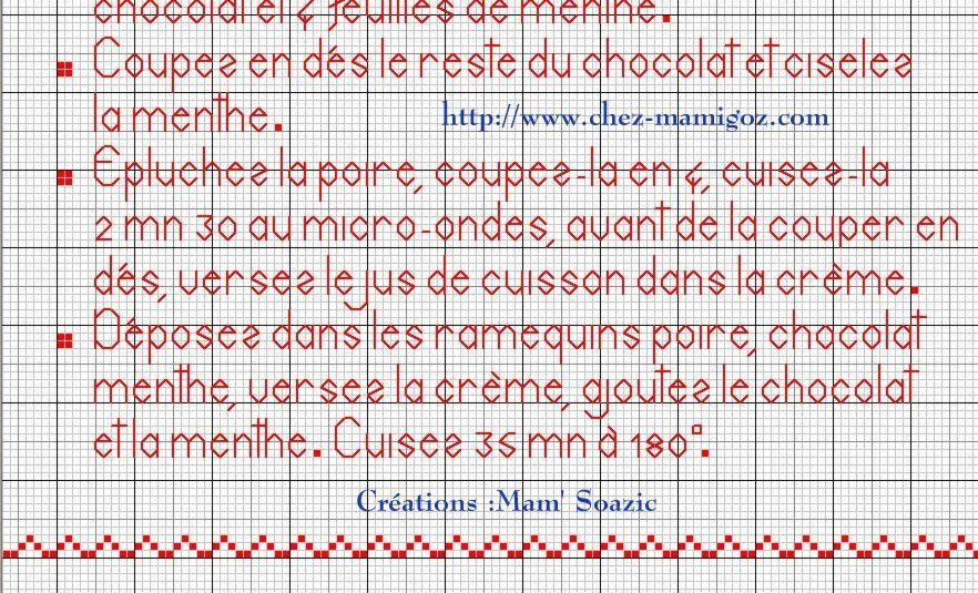 Livre Recettes Brodées de Mamigoz: Douceurs Poire Chocolat Menthe