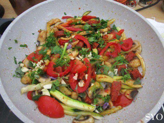 Poêlée de légumes au Chorizo à la Bretonne