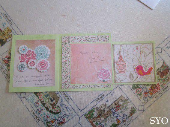 La superbe Carte Scrapbooking d'Anne-Marie