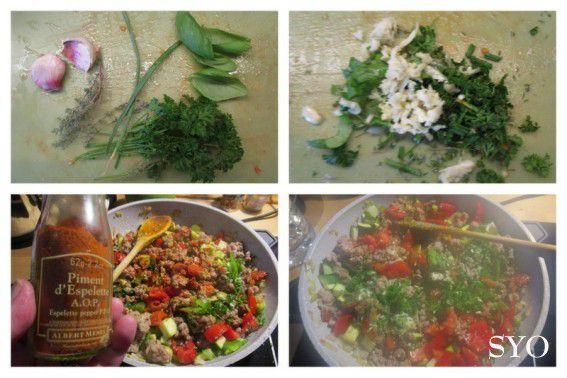 Gratin de Champignons farcis aux Légumes d'été