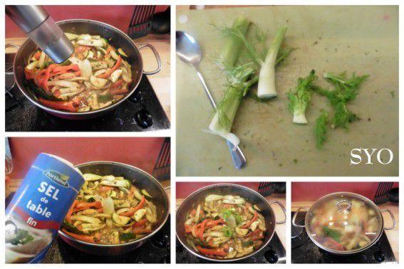 Poulet Massalé aux 5 légumes du Petit Bistro