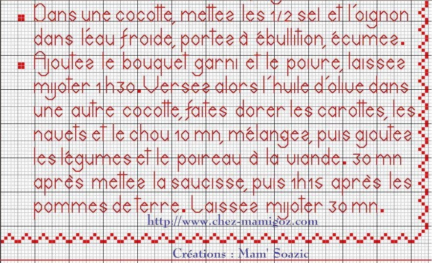 Livre Recettes Brodées de Mamigoz: La Potée