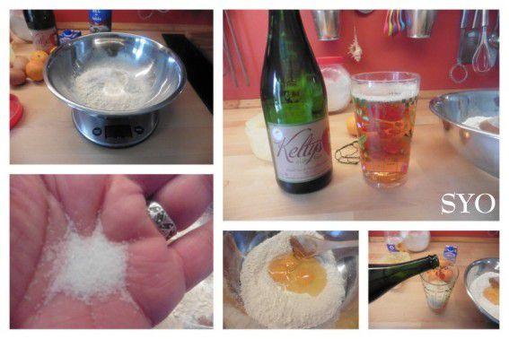 Aumônières de crêpesau cidre Kerné, clémentines, caramel beurre salé au cidre.