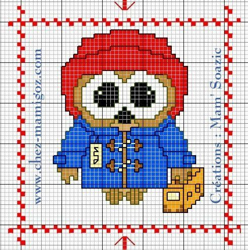 Plaid Chouette brodée 132 :  Chouette Paddington