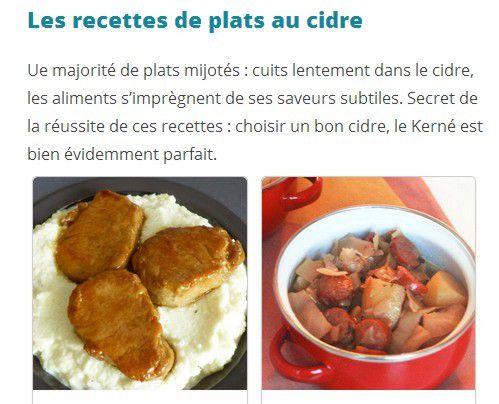 Défi Cidre Kernéchez Cuisine à l'Ouest : toutes les recettes