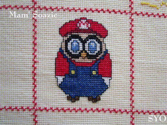 Plaid Chouette brodée 54 :  Chouette Mario