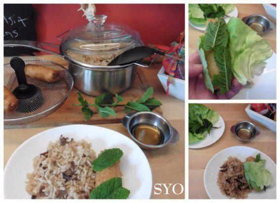 Nem et son riz façon Asia  du Petit Bistro